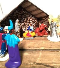 Christmas Nativity Set Scene Figures Polyresin Figurines Baby Jesus-12 PIECE SET