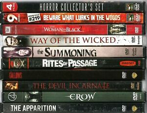 DVD Horror Lot of 10 Apparition Crow Gallows Night of The Living Dead 21 Movies