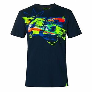 Valentino Rossi Official 2020 VR46 MotoGP 46 Mens Winter Test T-Shirt - Blue