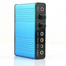 Blue 6 channel 5.1 External Audio Music Sound Card Soundcard For Laptop PC