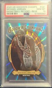 2020 Upper Deck Goodwin Champs Retail Exclusive Blue Michael Jordan #/499 PSA 10