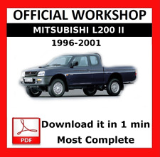>> OFFICIAL WORKSHOP Manual Service Repair Mitsubishi L200 1996 - 2001