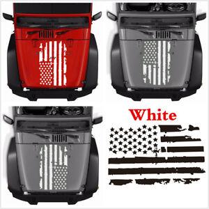 Universal White USA Flag Style 51x90cm Car Hoods Body Window Vinyl Decal Sticker
