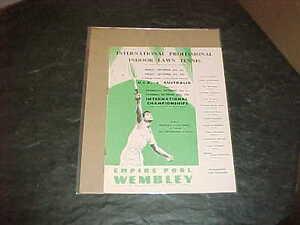 1956 Wembley International Indoor Lawn Tennis Program USA v Australia