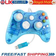 Gamepad GLOW BAGLIORE BLU USB Cablato MICROSOFT XBOX 360 Controller Laptop Desktop UK