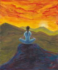 Artisteri / Llop - mini aclilico/oleo 'meditación 4' enmarcado 39x35