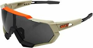 100% Speedtrap Sunglasses-Soft Tact Quicksand-Smoke