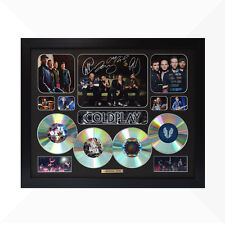 Coldplay Signed & Framed Memorabilia - 4 CD - Black - Limited Edition
