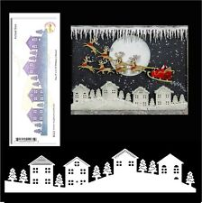 Winter Neighborhood Border metal cutting die Cheery Lynn dies houses,Christmas