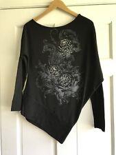 Papaya Black Studded Shirt Womens Large