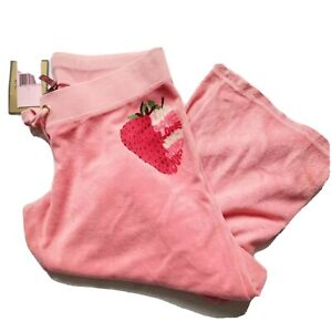 Juicy Couture Strawberry Pink Terry Tracksuit Bottoms Size L
