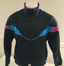 Vintage Road Runner Sports Jacket w/ Hood Black, Blue and Red Men's Small
