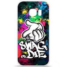 Coque Housse Etui Samsung Galaxy S7 Edge à motif Silicone Gel - Swag Or Die