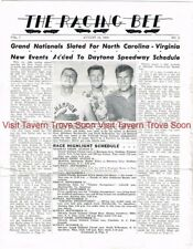 1960 Aug 13 RACING BEE Magazine Richard Lee Maurice Petty Sweepstakes 500 NASCAR