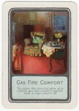 Playing Cards 1 Single Swap Card Old Vintage Wide GAS FIRE Fires Armchair Lounge