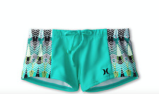 Hurley Kids Phoenix Bandeau Boy Short Aqua Girl's Swimwear SIZE 7 KIDS