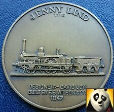 Railway History Bronze Medal Coin Jenny Lind Locomotive High Relief Details