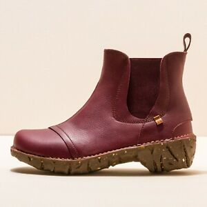 El Naturalista Yggdrasil N158 red leather ankle boots