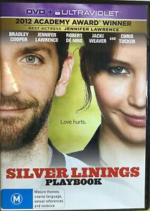 Silver Linings Playbook (DVD, Region 4) Aus Release Like New
