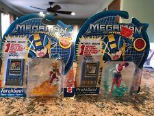 2004 Mattel MegaMan NT Warrior ProtoSoul & TorchSoul Figures W/Chip Sealed! New!