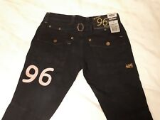 Womens G Star 96 Raw Elwood blue denim jeans trousers W26