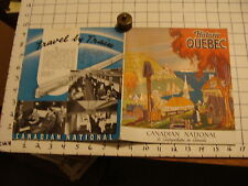 Vintage Travel Paper: HISTORIC QUEBEC, 1939 w/ fold out map