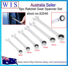 6pc Combination Ratchet Spanner Set Metric Open End Ratcheting Wrench Set-82046