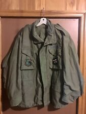 Vintage Air Force  USAF OD M65 Field Jacket olive w/ Color Patches, XL Army USMC