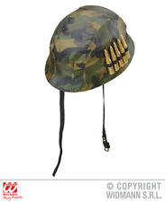 Camo Soldier Helmet With Bullets Army Military Fancy Dress Costume Accessory