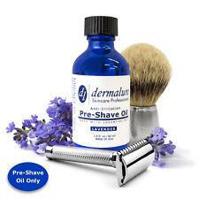 Pre-Shave Oil LAVENDER ESSENTIAL OIL 100% All Natural Oil for Sensitive Skin 2OZ