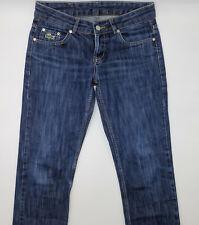 Lacoste W30 L28 blau Damen Designer Denim Jeans Hose Retro Mode Ladies VTG Lady