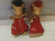Vintage Remco Mr. & Mrs. Mouse Figures Dolls , No Tails