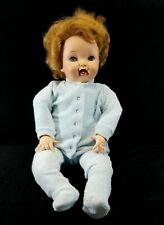 Vintage 1954 Effanbee Baby CuddleUp LifeSize Vinyl Sleepy Eyes Doll 26 Inch FINE