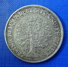 Germany, Weimar, Silver 5 Reichsmark 1928 D, Munich Mint. KM 56 . Toned.
