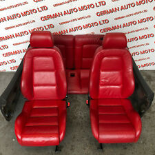 Audi TT Mk1 8n 98-06 Red Leather Interior Heated Seats And Door Cards