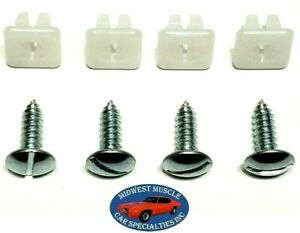 Chrysler Front Rear Bumper License Plate Holder Frame Bolts Nuts Hardware 8pc RK
