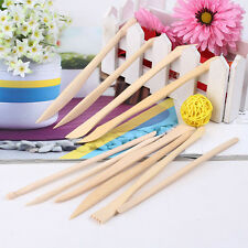 10PCS Wooden Clay Sculpture knife Pottery Sharpen Modeling Tools Set E0Xc