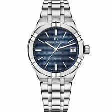 Maurice LaCroix Aikon Auto Blue Dial Silver Oyster Steel AI6007-SS002-4 RRP£1490