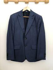 Hardy Amies 38R traje (Sr. Porter, Selfridges, Saville Row, Azul Microcheck)