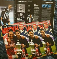 Arsenal- Scored 2:0 vs Newcastle United 2020 FA CUP 3RD ROUND PROGRAMME 9/1/2021