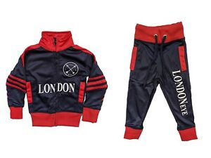 London Souvenir Boys Sport Suit Zipped Top | Cuffed Ankle Bottom | 0-13/14 Years