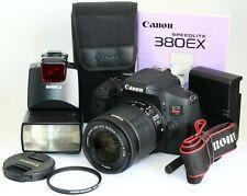 Canon T6i 750D DSLR 18-55MM STM IS LENS SPEEDLITE 380EX FLASH FREE SHIPS WORLD