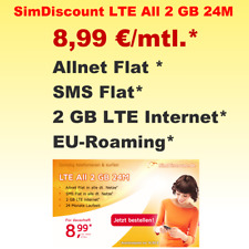 Handyvertrag mit Handy Flat,Allnet Flat Smartphone Vertrag LTE 2GB Internet Flat