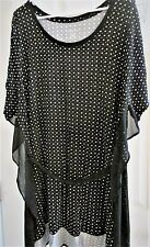 Plus Size Lane Bryant Tunic  2X/3X or 22/24 With Sheer Flutter Chiffon and Tie