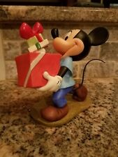 """Wdcc Mickey Mouse"""" Large Figurine from Pluto's Christmas Tree (1995) Retired"""