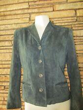 Ralph Lauren Leather suede Jacket Coat Sz M Dark Green