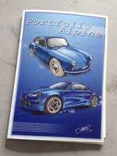 PORT FOLIO ALPINE RENAULT 10 X DESSINS D'ART PAR CHRIS - AUTO COURSE FORMAT A5