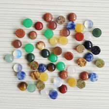 Wholesale 50pcs 6mm assorted natural stone round CAB CABOCHON mix stones beads