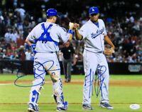 A.J. Ellis Kenley Jansen Dual Signed Autographed 11X14 Photo Dodgers JSA