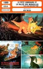 FICHE CINEMA : LE PETIT DINOSAURE ET LA VALLEE DES MERVEILLES - Don Bluth 1989